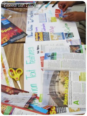 Nonfiction Text Features! make collages by having kids cut out different features they find in scholastic news magazines