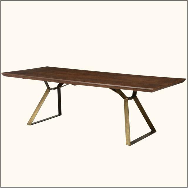 Brooklyn Rustic Industrial Factory Loft Style Wood & Iron Dining Table industrial-dining-tables