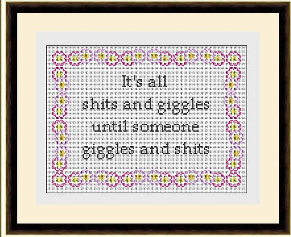 Giggles Subversive Sampler Cross Stitch Pattern by HeritageStitch