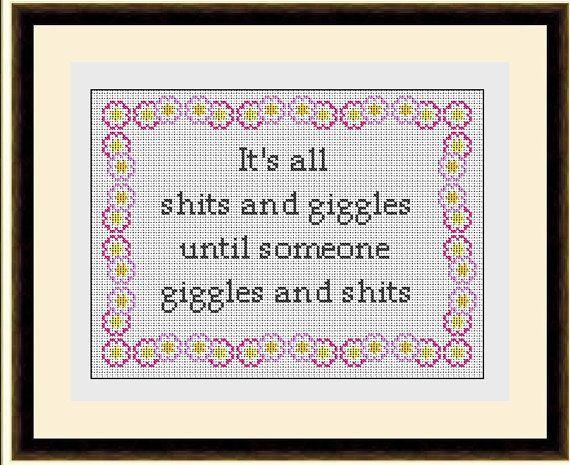 Giggles Subversive Sampler Cross Stitch Pattern by HeritageStitch