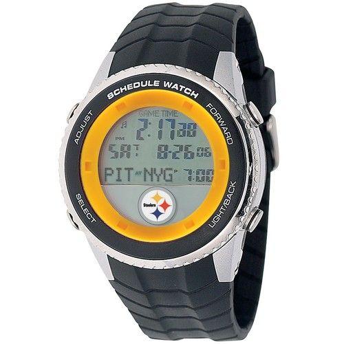Pittsburgh Steelers Mens Schedule Wrist Watch