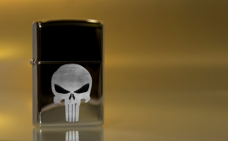 Punisher Skull Etched Zippo Lighter by AThomasBracelets on Etsy