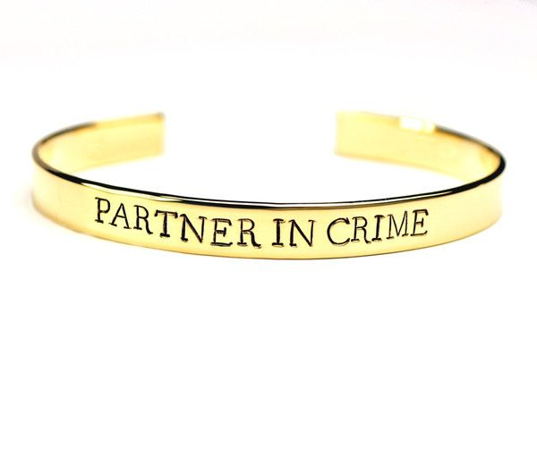 partner in crime cuff for you bff