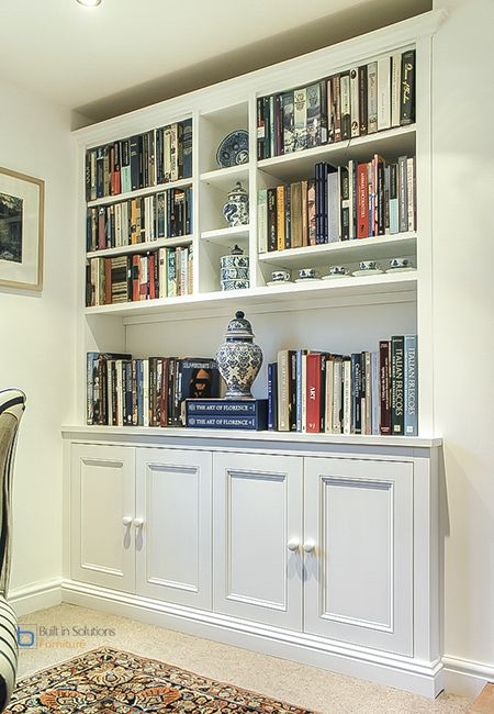 Luxury Handmade Built In Bookcase With Cabinets