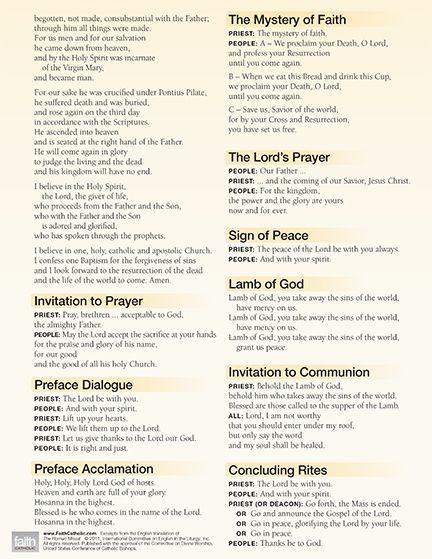 Mass Prayers & Responses | CatholicTV