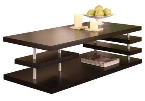 Contemporary Coffee Table Unique Living Room Furniture Dark