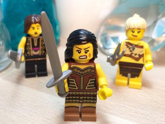 Xena Warrior Princess Custom Lego Minifigure Set by YBRDesigns
