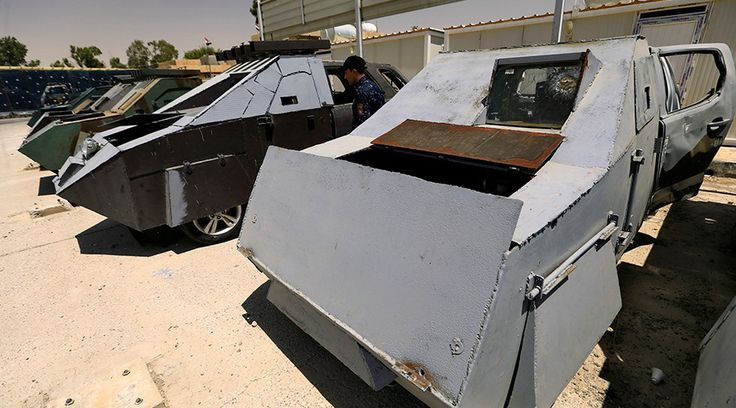 'Mad Max' Jihad: Seized ISIS combat vehicles go on exhibit in Mosul (PHOTOS) — RT News