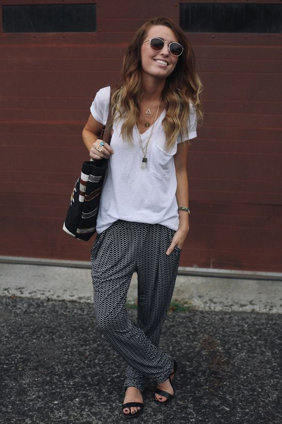 remember when I said that I would never ever ever wear harem pants? - The Daybook