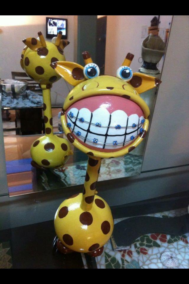 Girafa de aparelho Arte com cabaça