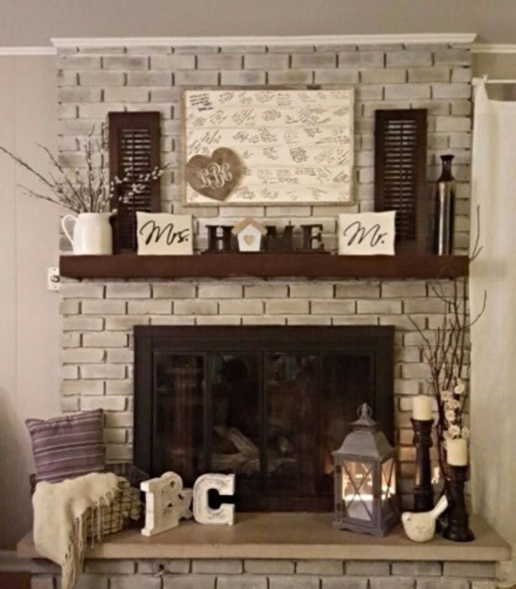 30+ Stunning Brick Fireplace Mantle Design Ideas On A Budget