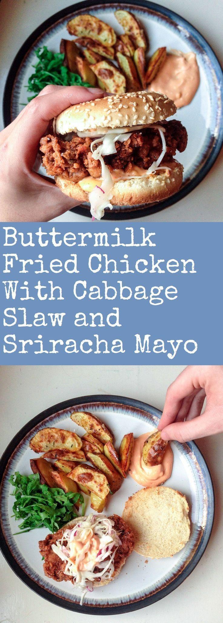 100 sriracha recipes on pinterest sriracha chicken for Table 52 buttermilk fried chicken recipe