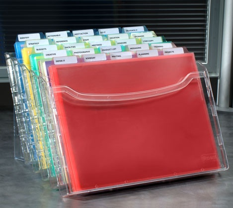 StationMate® 5-Compartment Desktop Organizer w/25 PocketFiles™ - for reference or current project materials