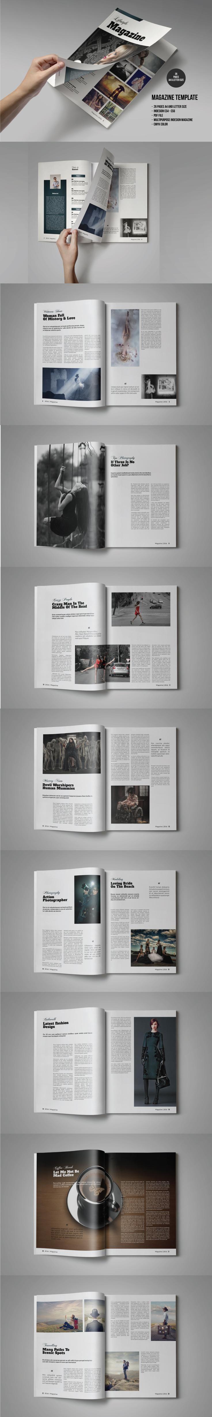 #magazine #design from Leparte | DOWNLOAD: https://creativemarket.com/Leparte/470783-Multipurpose-Magazine-Template?u=zsoltczigler