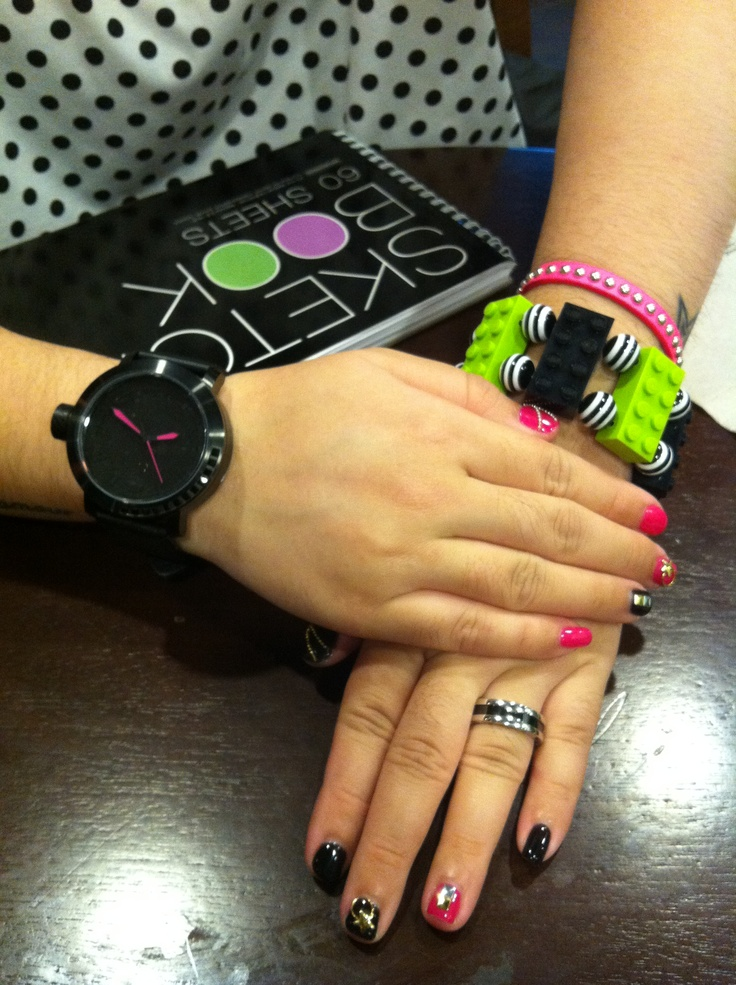 color coordinated #twatch #accessories #lego #bracelet #bvlgari #bulgari