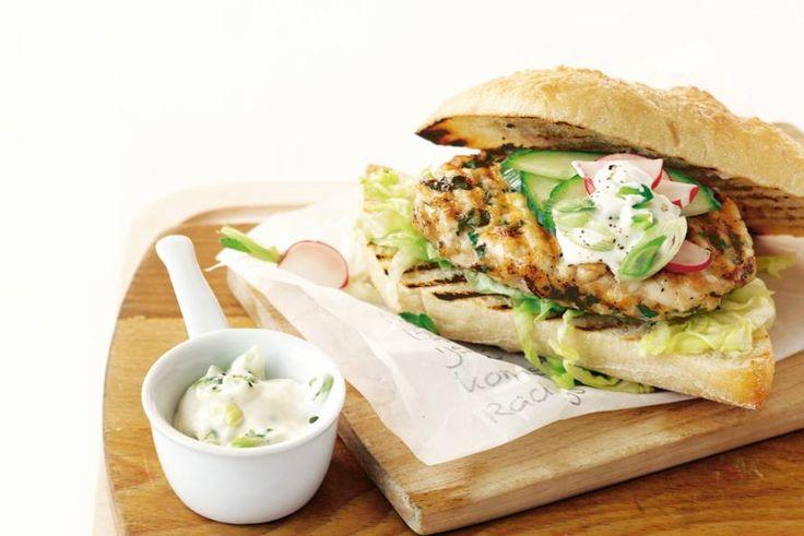 Frisse kipburger - Recept - Allerhande