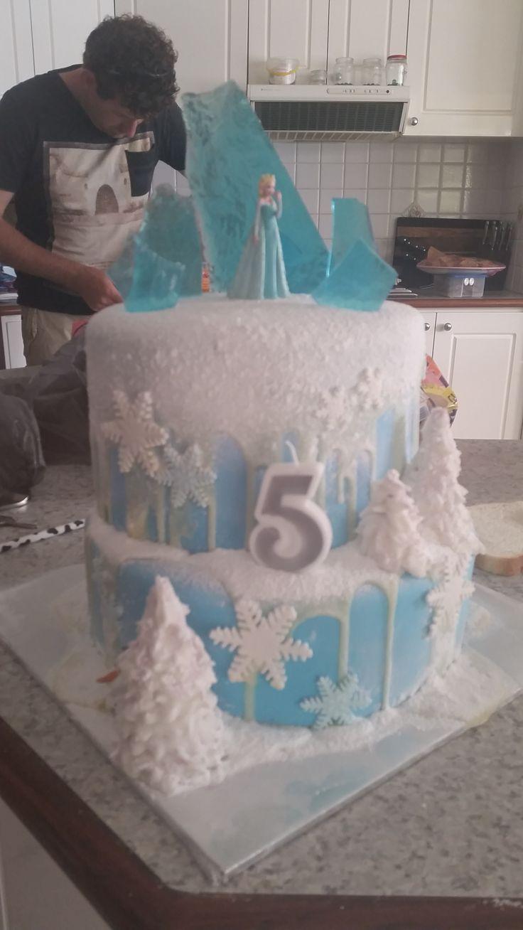 Disney Frozen two tier cake