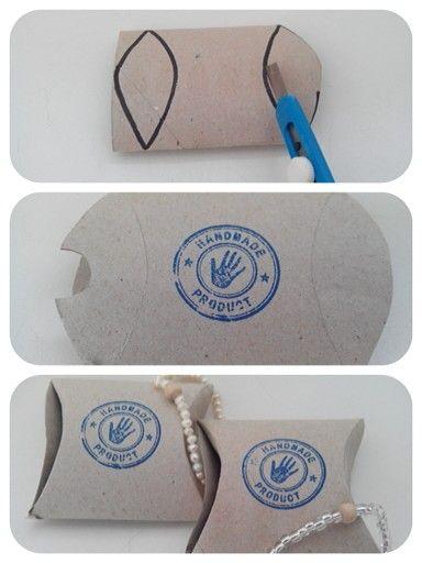 DIY kadodoosje voor sieraden van een toiletrolletje
