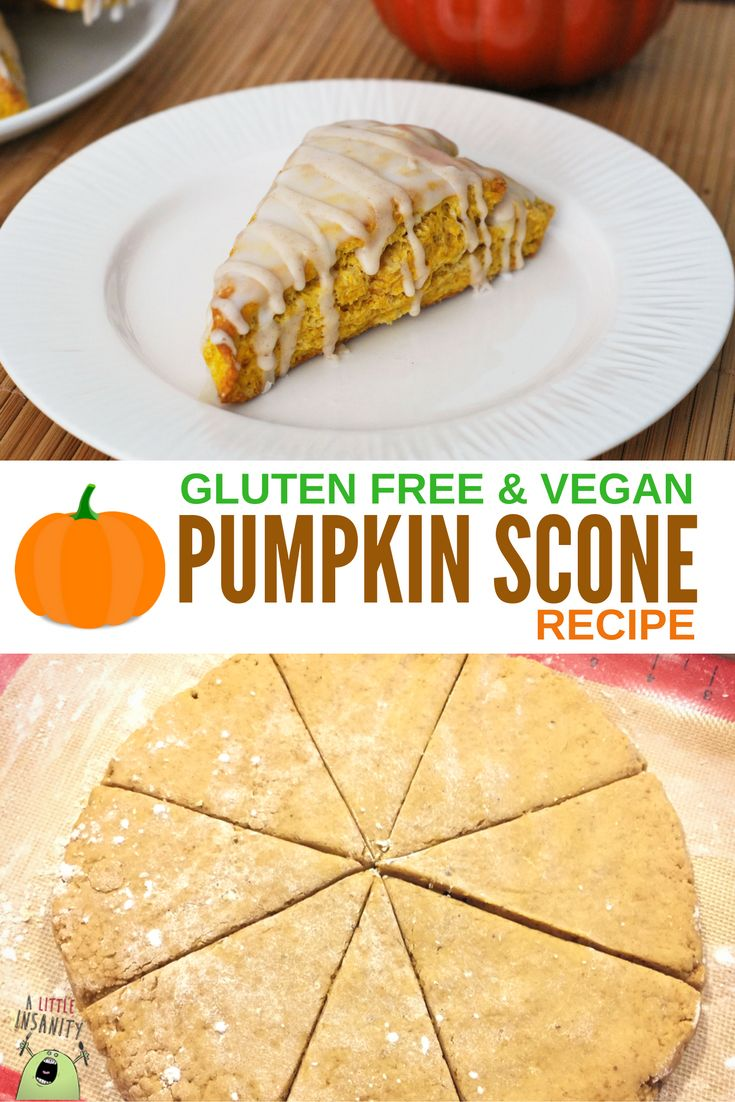 Gluten Free & Vegan Pumpkin Scone Recipe - Starbucks Copycat Recipe - Easy & Delicious! #glutenfree #vegan