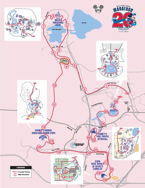 disney marathon route | Disney World Marathon 2014: Route, Start Time, Date and More