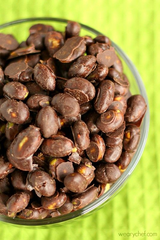 Chocolate Covered Dry Roasted Edamame {Trader Joe's Copycat!}