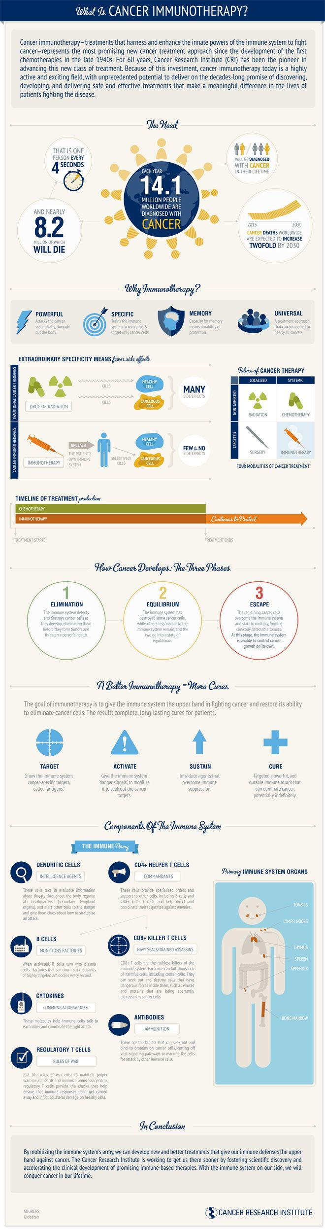 What is Cancer Immunotherapy Infographic