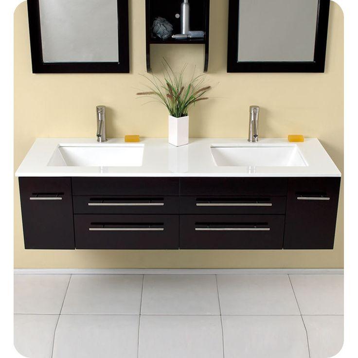 Bellezza Espresso Modern Double Bathroom Vanity by Fresca