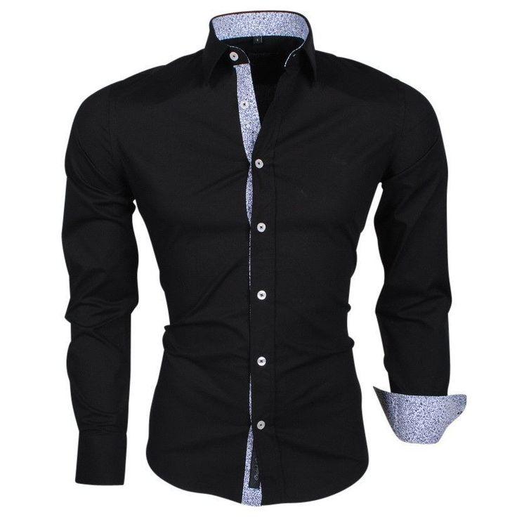 12 best hemden images on pinterest hemden herren hemden. Black Bedroom Furniture Sets. Home Design Ideas