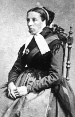 Digitalt Museum - Portrett av fru Inger Eigeland, født Moseid 19.mars 1838, fotografert på 1860-tallet. Moseid, Vennesla, Vest-Agder.