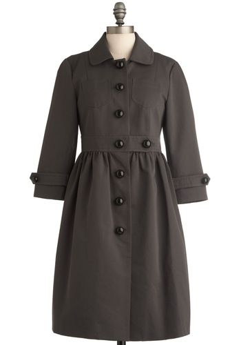 Orla Kiely Charcoal Sketches Coat - Love this, just wondering abt the purpose of the shorter sleeve....I can never find a good time to wear these...