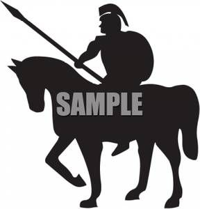 Roman Warrior Horse Silhouette Clipart - Free Clip Art Images ...