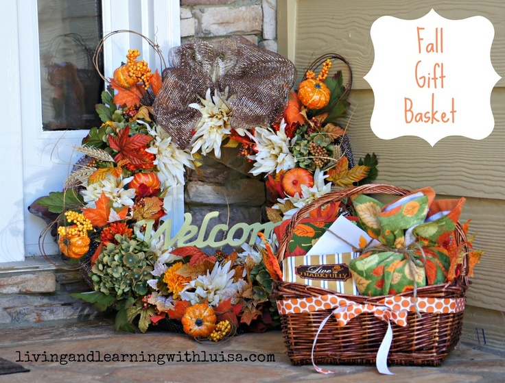 1000+ ideas about Fall Gift Baskets on Pinterest | Thanksgiving ...