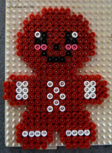 Gingerbread man - Christmas hama beads by Les Loisirs de Pat                                                                                                                                                                                 More