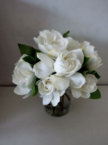 Gardenia arrangement - very fragrant!  And so beautiful, too.