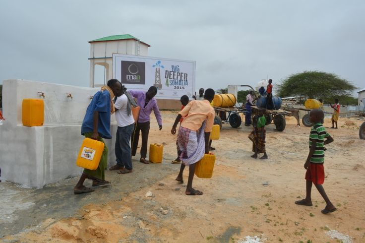 Our recently completed borehole in Somalia, September 2015