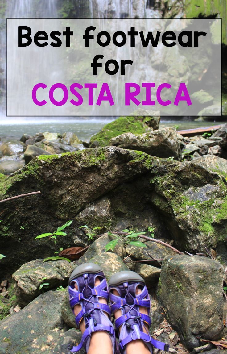 The best shoes to bring for Costa Rica - find out which ones are best for trekking in the rain forest, jumping off waterfalls and hiking up mountains http://mytanfeet.com/costa-rica-travel-tips/protect-feet-best-shoes-costa-rica/