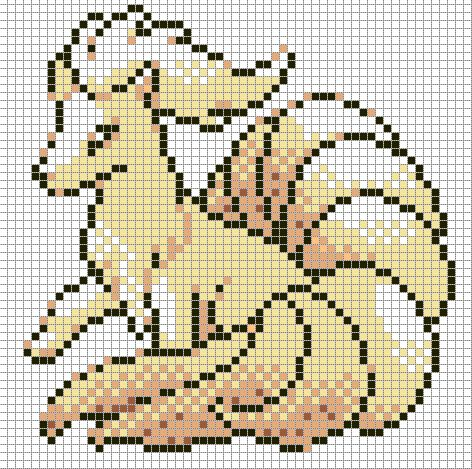 38 - Ninetales Pokemon perler pattern by Hama-Girl on DeviantArt