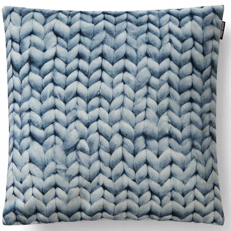 Snurk Beddengoed Sierkussen hoes Twirre, ice blue, 50x50cm, blauw