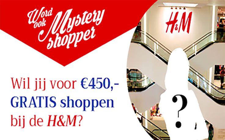 Ga voor 450 euro gratis shoppen als mysteryshopper bij H&M  Zou jij eens graag met 450 euro gaan shoppen in de H&M winkelketens? Meld je dan vandaag nog aan als mysteryshopper voor H&M. Als jij gekozen wordt mag je voor 450 euro gratis shoppen. Meer info ==> http://gratisprijzenwinnen.be/word-mysteryshopper-voor-hm/  #gratis #shoppen #mysteryshopper #winkelen