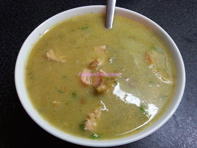 Foodie in Translation: Zuppa di salmone con peperoni e lenticchie