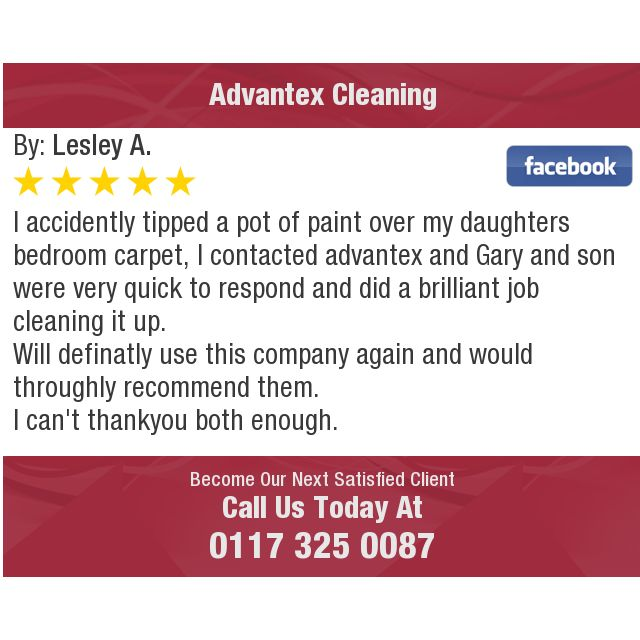 I  accidently tipped a pot of paint over my daughters   bedroom carpet, I contacted...