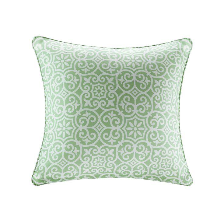 Madison Park 3M Scotchgard Outdoor Medium Throw Pillow, Green