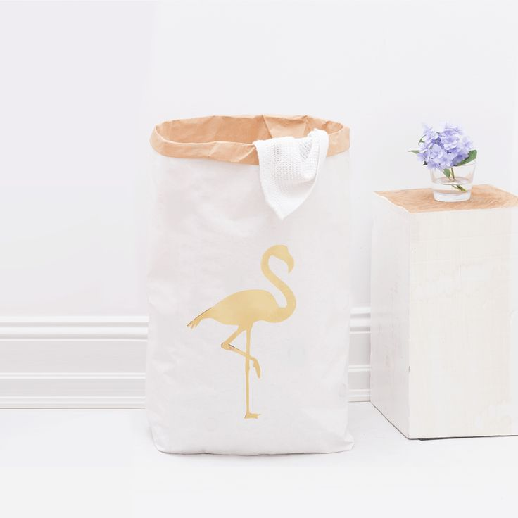 Papiersack / Flamingo / Gold By :  Eulenschnitt
