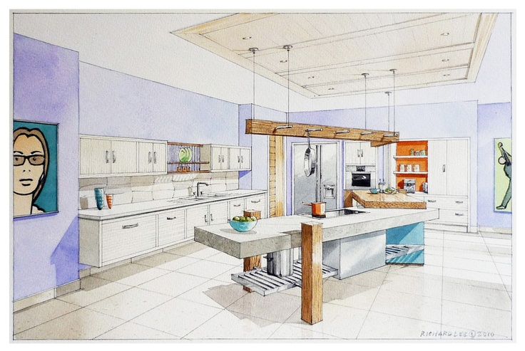 Watercolour illustration for Johnny Grey Ltd.