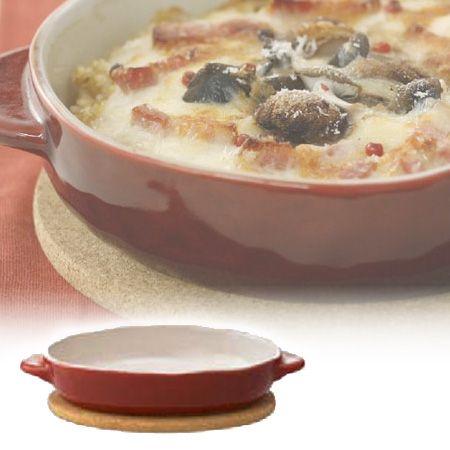 ほっくり オーバルグラタン レッド ( グラタン皿 )【楽天市場】