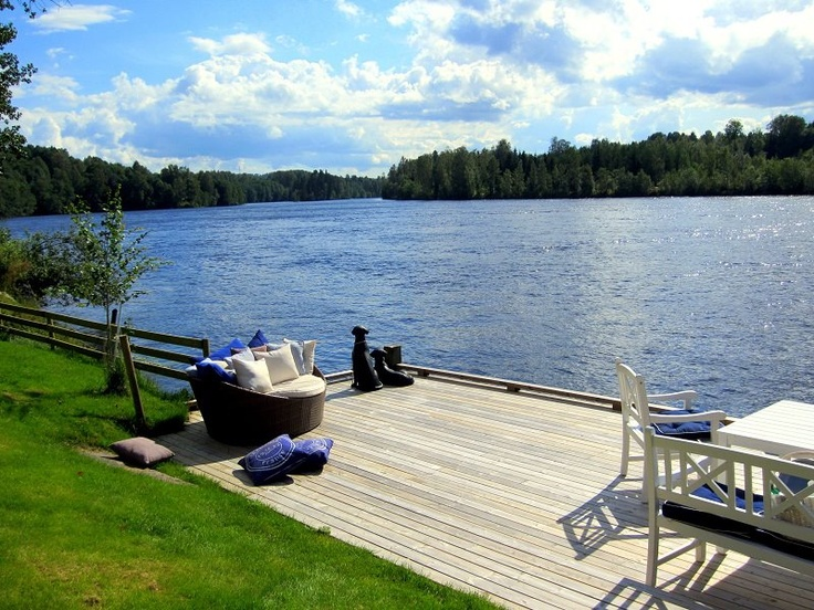 My Swedish summer house is located by the river.