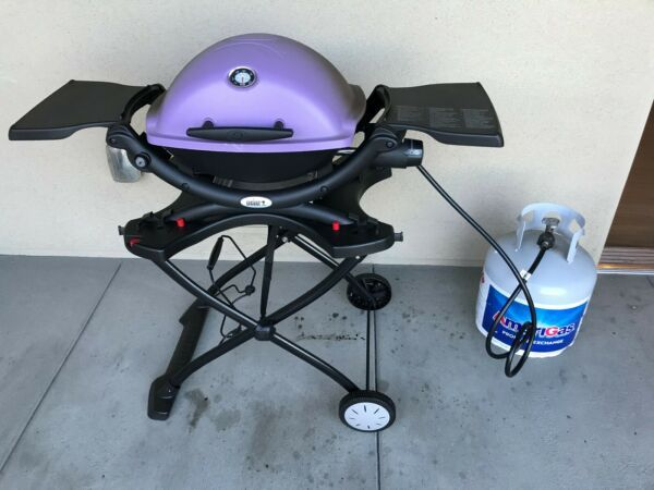 Weber Q1200 1 Burner Purple Gas Grill No Reserve In 2020 Gas Grill Fire Pit Cooking Grill Portable Charcoal Grill