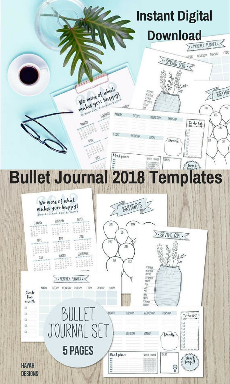 These Bullet Journal Page Templates would make Bullet Journaling easier for me! I like that I don't have to take the time to draw all of the lines myself let alone think of the layouts too! I can print them myself as I need them, I like that! #bulletjournaling #bulletjournaljunkie #ad #instantdigitaldownload #printable #template