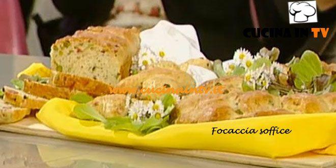 Focaccia soffice ricetta Cattelani La Prova del Cuoco | Cucina in tv