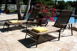 Chub Cay Patio Sling 3 PC Chaise Lounge Set i - Contemporary - Outdoor Chaise Lounges - by ivgStores